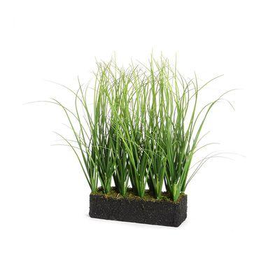 Grasreihe in Erde grün ca L:15 x B:5 x H:26 cm