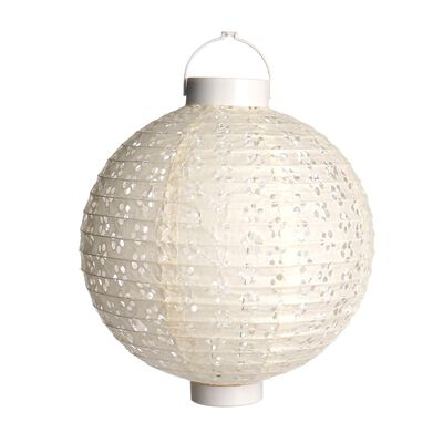 LED Lampion weiß ca D:25 cm
