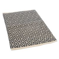 Teppich Raute, ca B:60cm x L:90cm, schwarz