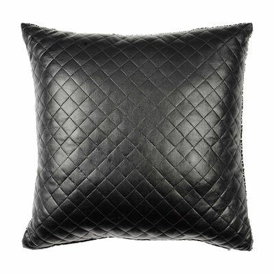 Kissen gesteppt schwarz ca B:43 x L:43 cm (Kissenbezug: 43% Baumwolle, 34% Polyester, 23% Polyuretan)