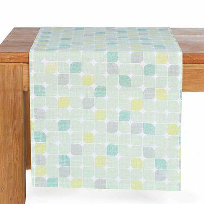 Tischläufter Retro mintgrün ca B:40 x L:150 cm (100% Baumwolle)