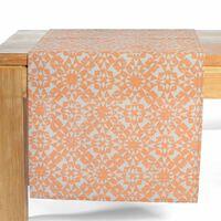 Tischläufer Ornament, ca B:40cm x L:150cm, orange