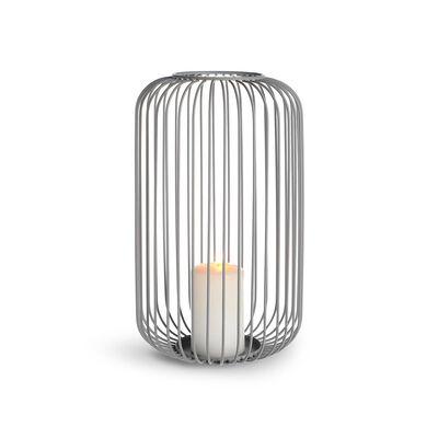 Windlicht Metall grau ca D:18 x H:31 cm