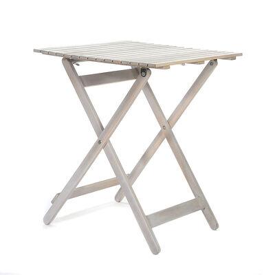 Tisch Akazie FSC®-zertifiziertes Akazienholz weiß ca. L:60 x B:60 x H:72 cm