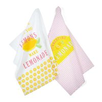 Geschirrtuch Lemonade, 2 Stück, ca B:50cm x L:70cm, bunt