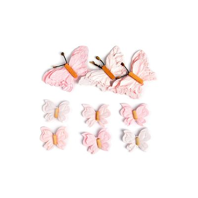 Sticker Schmetterling 3D 9er-Set rosa