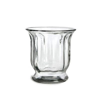 Windlicht Glas auf Fuß klar ca D:18 x H:18 cm
