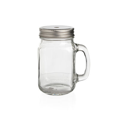 Trinkglas mit Griff klar ca 450 ml