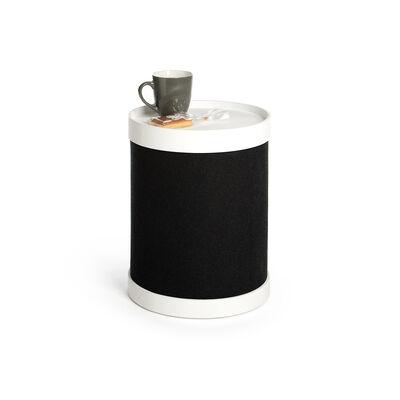Beistelltisch Tablett schwarz ca D:32 x H:41 cm (Bezüge: 100% Polyester)