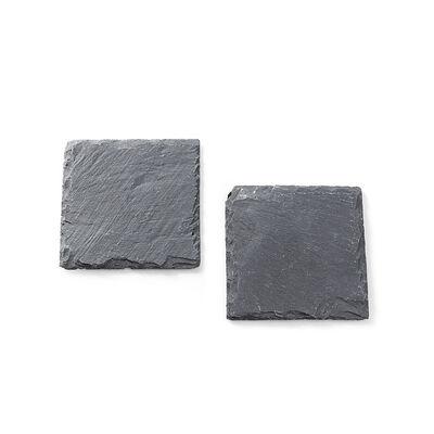 Schieferplatte grau 2 Stück ca B:10 x L:10 cm