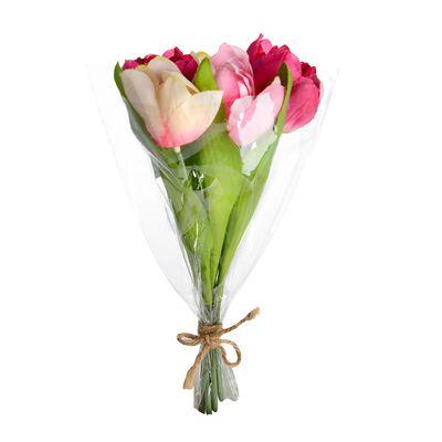 Tulpenbündel 5er-Set pink ca L:25 cm