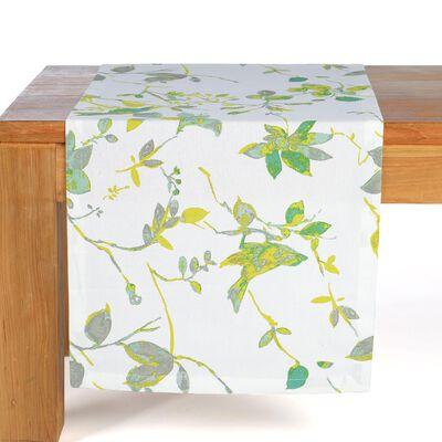 Tischläufer Vögel grün ca B:40 x L:150 cm (100% Baumwolle)