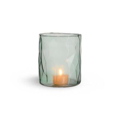 Windlicht Glas mintgrün ca D:10 x H:12 cm