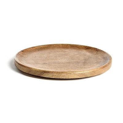 Teller Holz natur ca D:40 cm