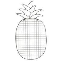Wandobjekt Ananas, ca B:37cm x L:69cm, schwarz