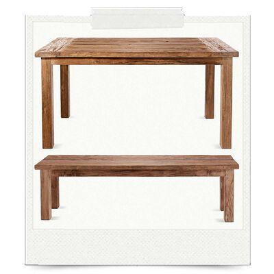 Spar-Set Esstisch und Bank (gesehen im Katalog)
