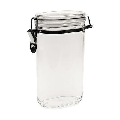 Vorratsdose oval Kunststoff klar 1 l