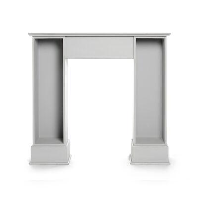 Kaminkonsole Mischholz grau ca L:108 x T:27 x H:99 cm