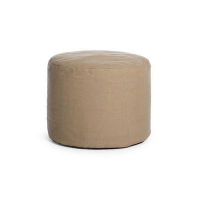 Sitzpouf Leinen hellbeige ca D:35 x H:50 cm (Bezüge: 70% Polyester, 30% Leinen)