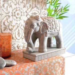 Dekofigur Elefant, ca 25x10x23cm, grau