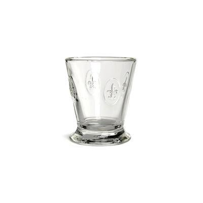 Trinkglas Fleur de lys Glas klar ca 250 ml