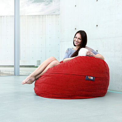 Sitzsack FATSAK XL rot ca D:110 x H:70 cm (Bezug: 100% Polyester)