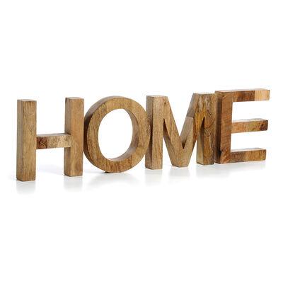 Buchstaben Home Mango 4-tlg ca L:71 x T:4 x H:20 cm