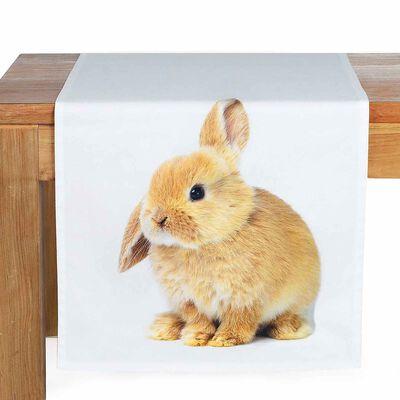 Tischläufer Knickohr beige ca B:40 x L:150 cm (100% Baumwolle)