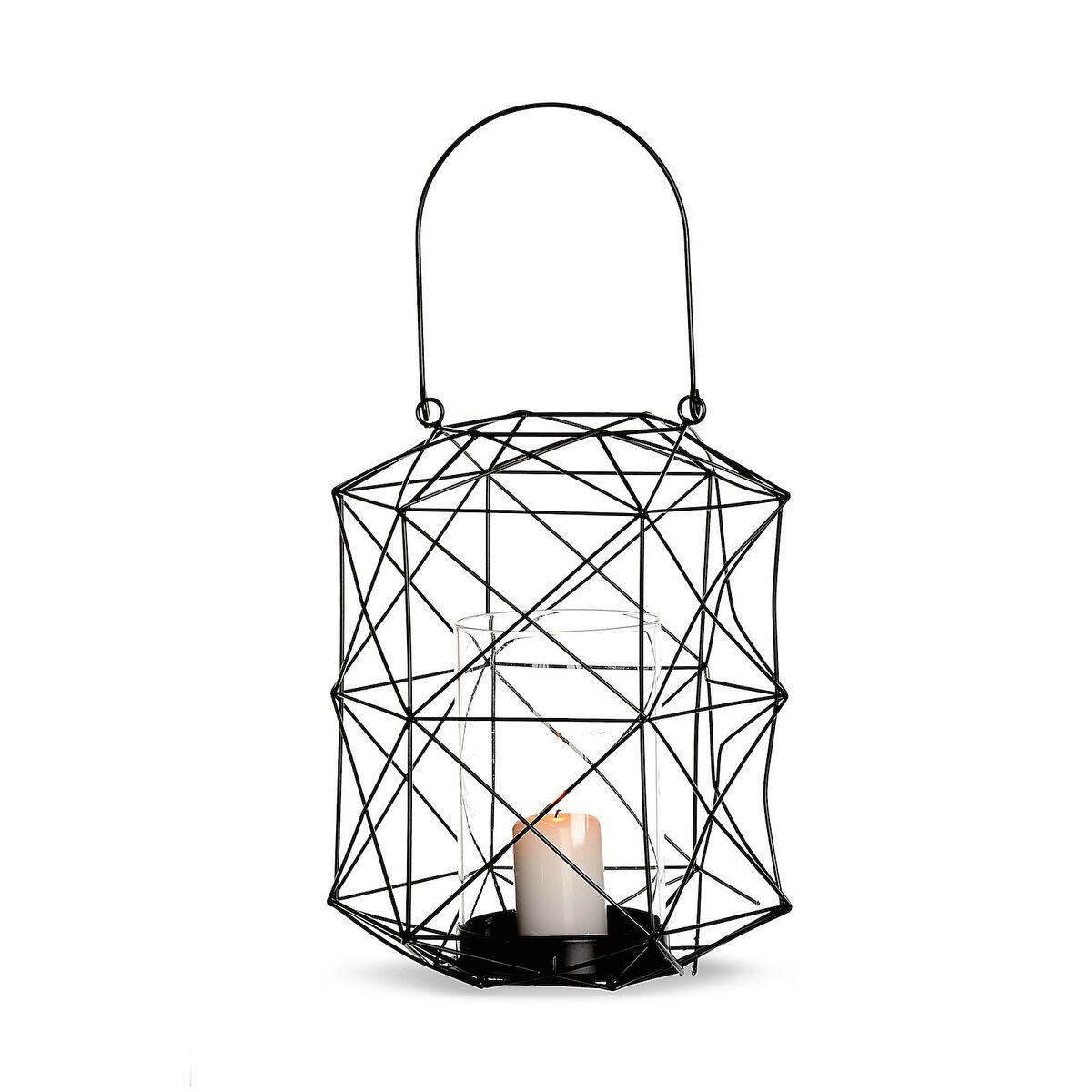 windlicht aus metall ca d 21 x h 25cm schwarz depot de. Black Bedroom Furniture Sets. Home Design Ideas