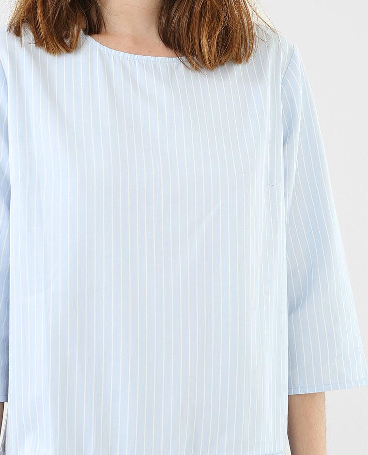 Kleid mit feinen Streifen Blau