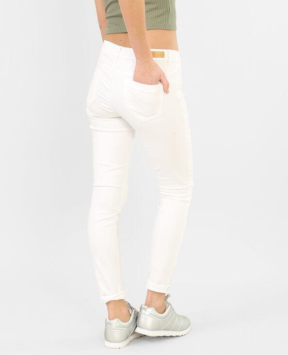 Pantaloni slim écru
