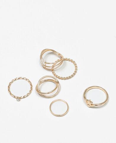 Set Ringe im Minimal-Style Gold