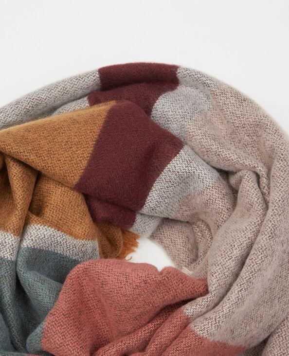 Bufanda manta con rayas multicolores rosa