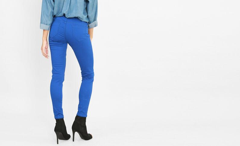 Push-up Skinny Jeans Metallic-Blau