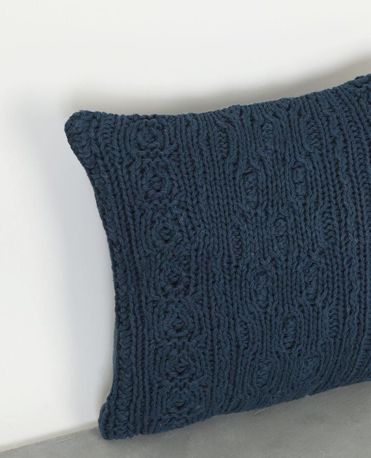 Housse de coussin tricot bleu 955078658k46 pimkie for Housse de coussin bleu canard