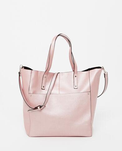 Grand sac cabas rose pâle