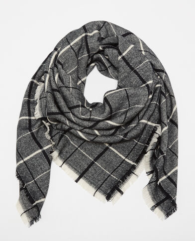 Echarpe plaid gris