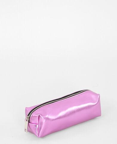 Trousse metallizzata rosa fucsia