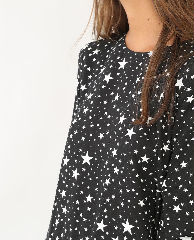 Robe imprimée étoiles noir