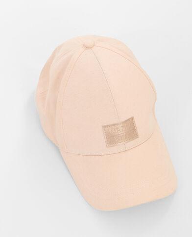 Casquette avec patch rose