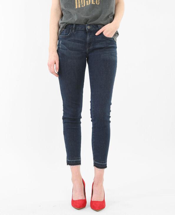 7/8-Skinny-Jeans high waist Blau