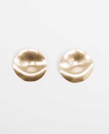 Boucles d'oreille disque doré