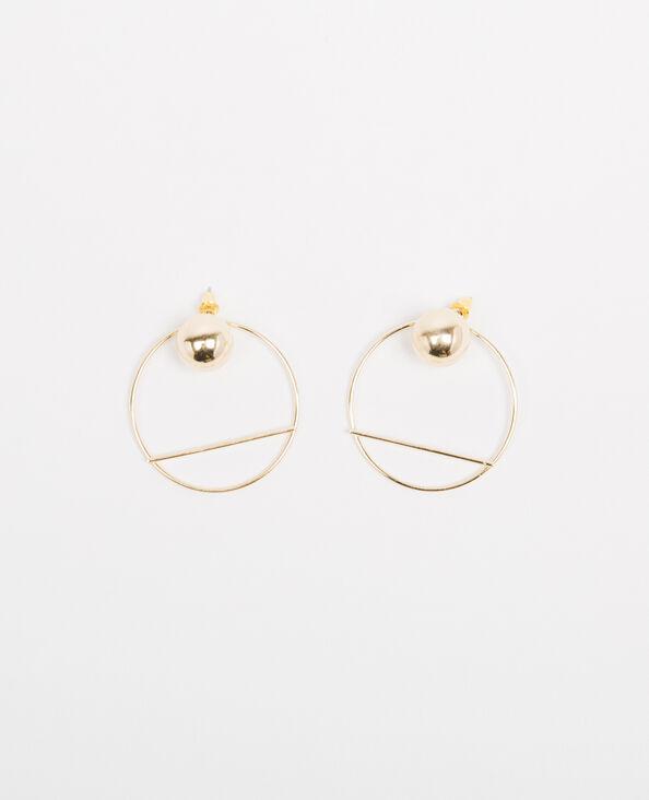 Boucles d'oreilles 2 en 1 doré