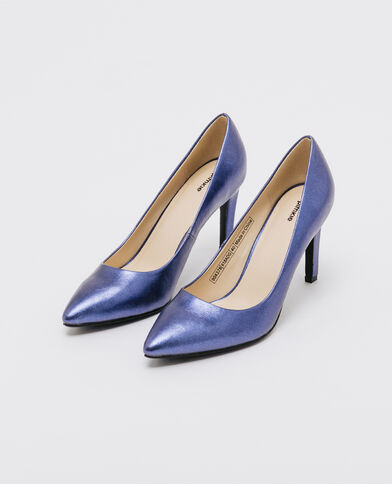 Escarpins shiny bleu électrique