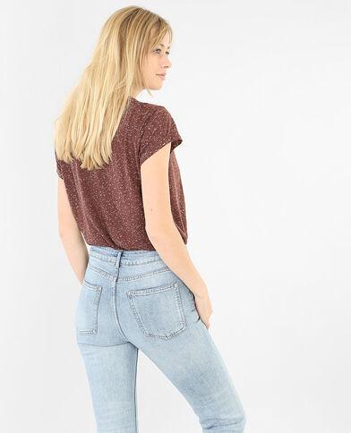 Gesprenkeltes Damen-T-Shirt Rot