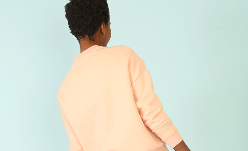 Oversized-Sweatshirt Rosa