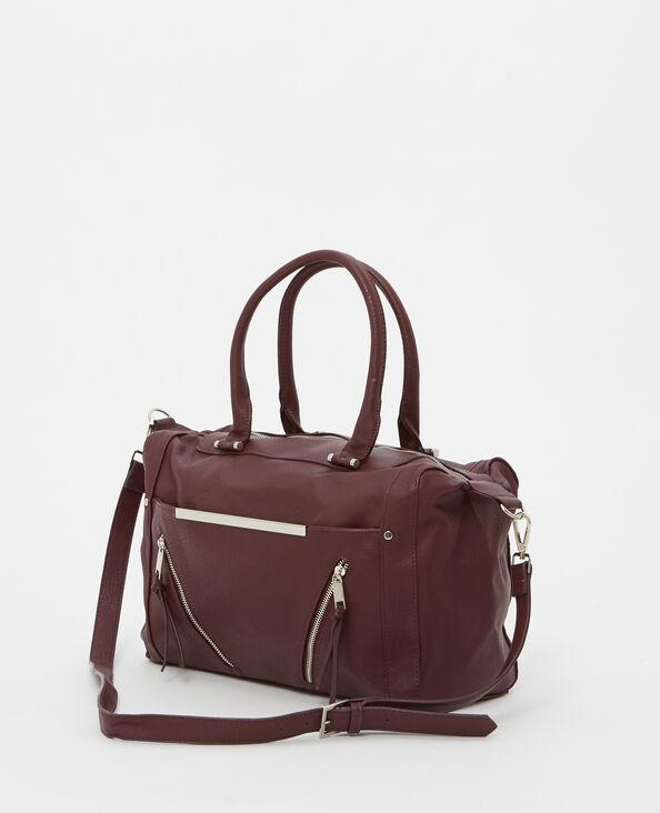 Einkaufstasche aus Kunstleder Granatrot