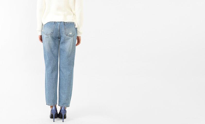 Mom jeans met studs denimblauw