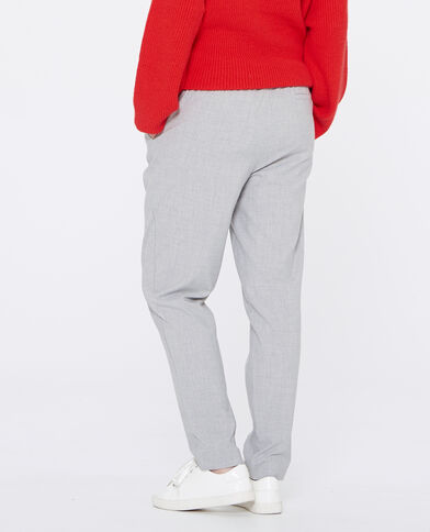 Pantalón carrot gris jaspeado