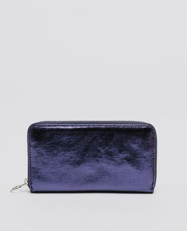 Cartera shiny azul oscuro